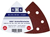 60 Stück Klett-Schleifdreiecke 93x93x93 mm Körnung je 10 x 40/60/80/120/180/240 für Delta-Schleifer 6 Loch