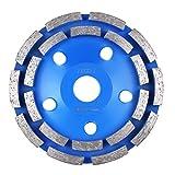 FIXKIT Diamantschleifscheibe Diamantschleiftopf doppelreihig und universal für Beton, Mauerwerk, Marmor, Granit 125*22.23mm blau (125mm?)