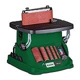Holzstar Spindel-und Bandschleifmaschine OBSS 100 (neigbarer Arbeitstisch 0°-45°, 450 Watt Motor, inkl. Schleifhülsen + Schleifband) 5903501